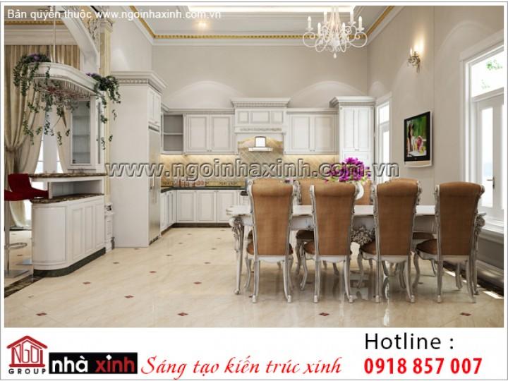 Mẫu Nội Thất Phòng Bếp & Phòng Ăn Đẹp | Tân Cổ Điển | Quận 2 | NT.NNX198