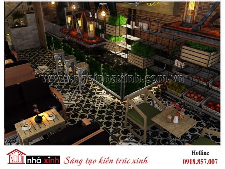 Nhà Xinh - Đằng cấp thiết kế nhà đẹp - Mẫu thiết kế nội thất đẹp Quán cafe Tuf and Harry | NNX - NT 723
