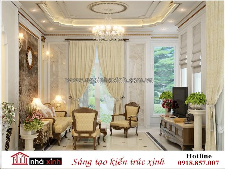 Nội thất nhà đẹp | Phòng khách | Tân cổ điển | Chị Hiền - Bình Thạnh | NT. NNX180