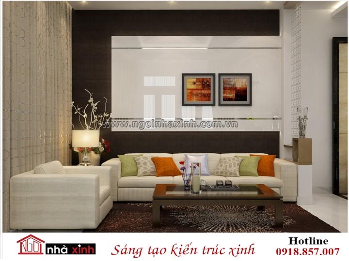 Nội thất phòng khách đẹp   Hiện Đại   Anh Tuấn - Pleiku   NT. NNX 183