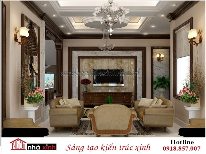 Nội thất phòng khách | Tân cổ điển | Anh Tỏa - Hà Nội | NT. NNX 196