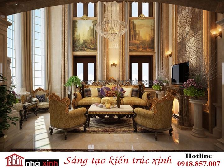 Thiết Kế Nội Thất Đẹp Nhà Xinh | Cổ điển | Anh Sang – TP Vinh | NNX - NT709