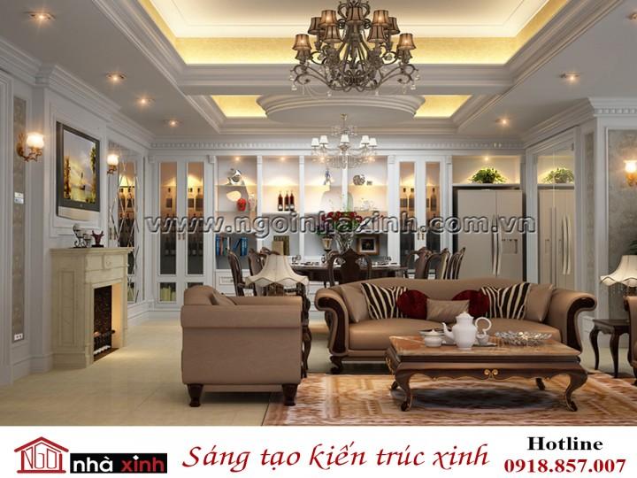 Nhà Xinh | Nội Thất Phòng Khách Đẹp | Phong Cách Cổ Điển | Nhà Cô Thư - Hà Nội