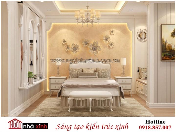 nội thất phòng ngủ đẹp mang phong cách Âu Châu nhà chị Hạnh do Nhà Xinh thiết kế