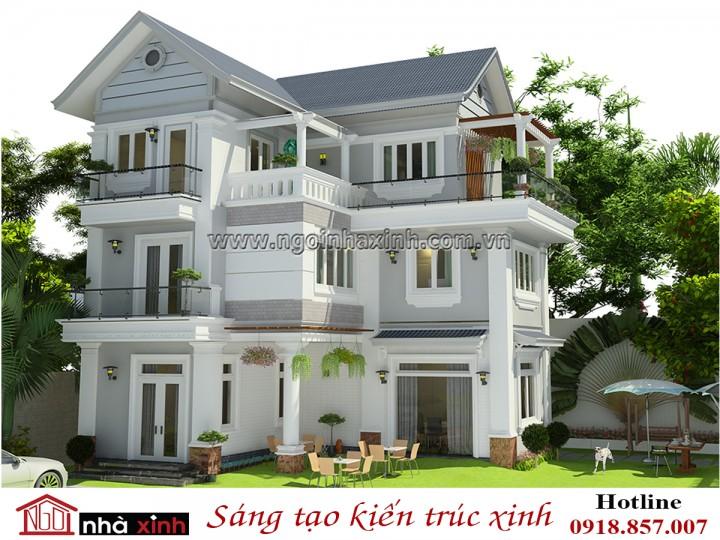 Mẫu Thiết Kế Biệt Thự Đẹp | Hiện Đại | Chị Dung - Phú Quốc | NNX - BT703