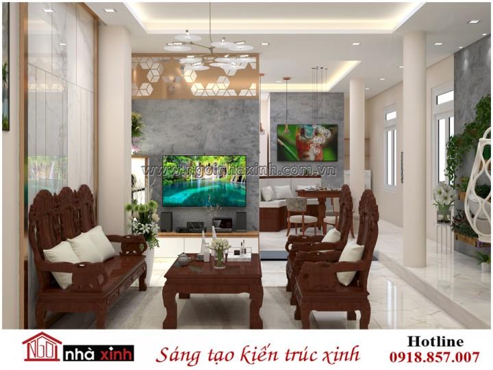 Nhà Xinh | Nội Thất Phòng Khách Đẹp | Hiện Đại | Nhà Chị Hòa - Tân Bình