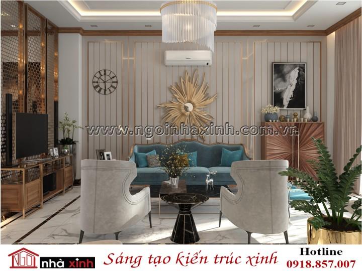Nhà Xinh | Nội Thất Phòng Khách Đẹp | Tân Cổ Điển | Nhà Chú Ẩn - Tiền Giang