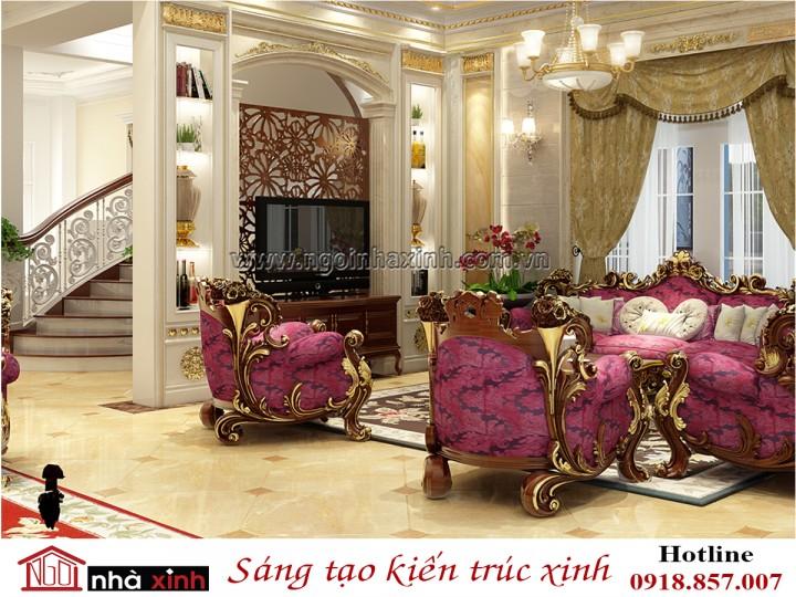 Nhà Xinh | Nội Thất Phòng Khách Đẹp | Cổ Điển | Nhà anh Dũng - Thảo Điền