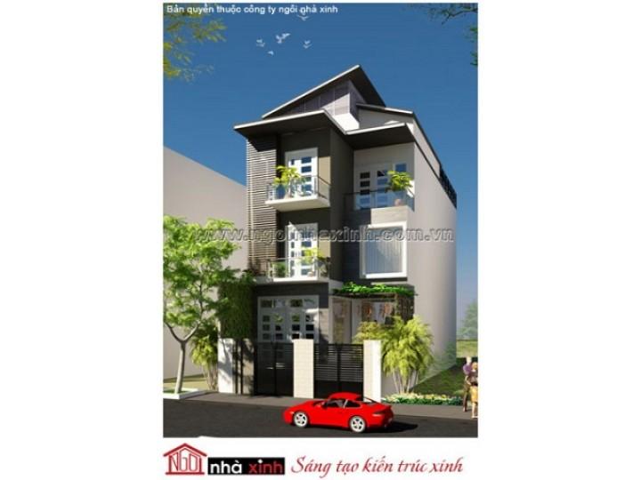 Mẫu Thiết Kế Nhà Phố Hiện Đại Đẹp   3 tầng   Chị Hương - Quận 12     NPNNX028