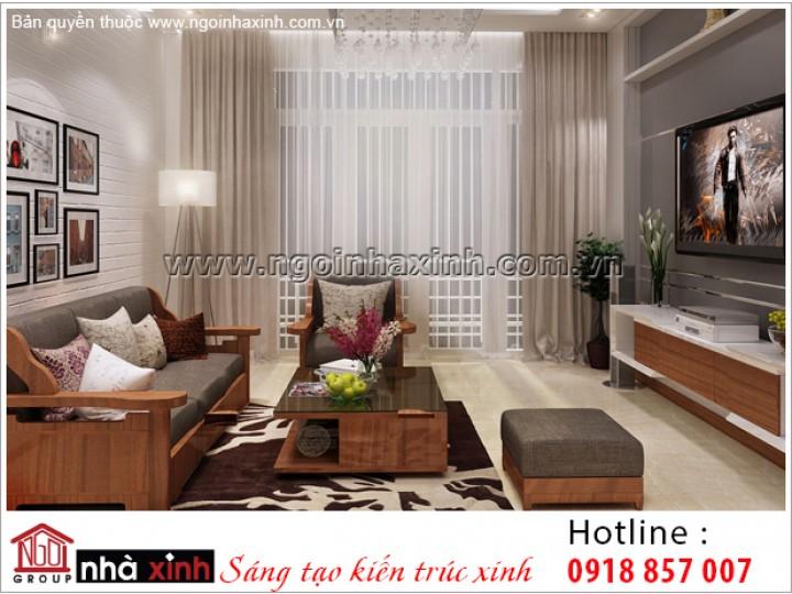 Thiết Kế Phòng Sinh Hoạt Chung Đep Sang Trọng |  Hiện Đại | 4 Tầng | Quận Bình Thạnh | NPNNX029