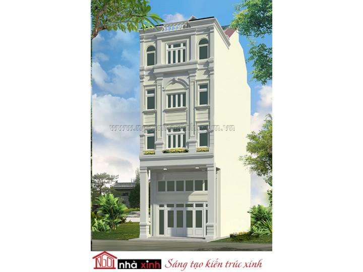 Mẫu Thiết Kế Nhà Phố Đẹp | Tân Cổ Điển  | 4 Tầng | 6M Mặt Tiền | Anh Khanh  – Quận 7 | NPNNX155