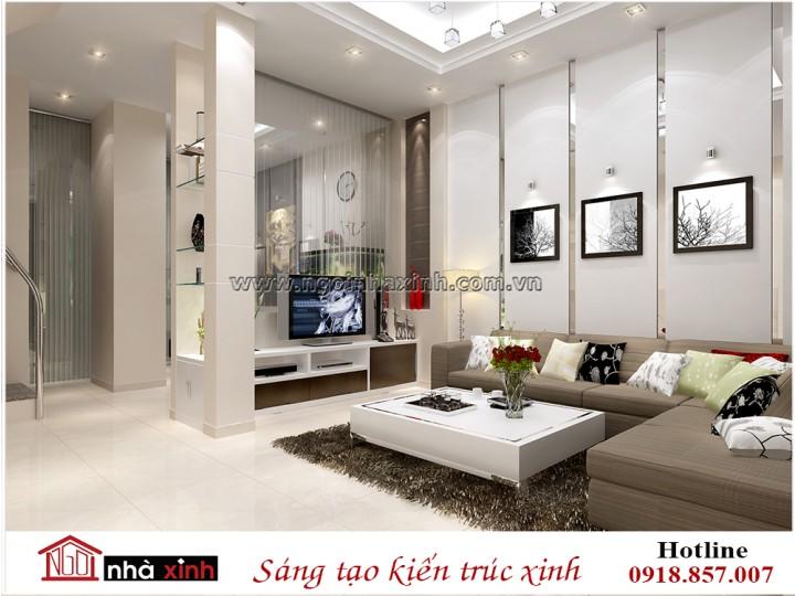 Thiết kế nội thất phòng khách đẹp | Hiện Đại | Chị Liên - Ngô Đức Kế | NT. NNX 188