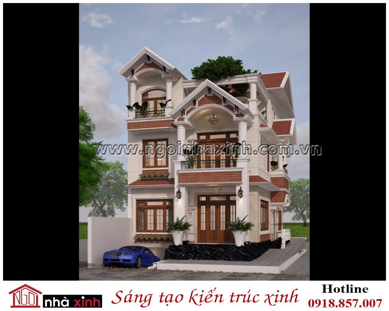 Thiết kế biệt thự đẹp anh Tùng-quận 12