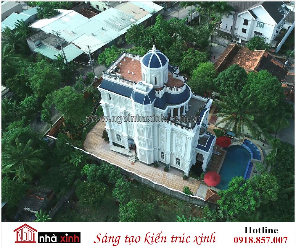 Toàn cảnh biệt thự đẹp cao cấp nhà anh Chọn do Nhà Xinh thiết kế, biệt thự đẹp, nhà xinh