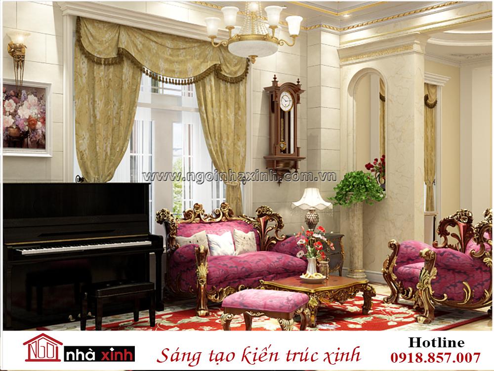 biệt thự đẹp, thiết kế nội thất biệt thự cổ điển, mẫu phòng khách biệt thự đẹp, mau biet thu dep, nha xinh, thiet ke nha xinh, ngôi nhà xinh