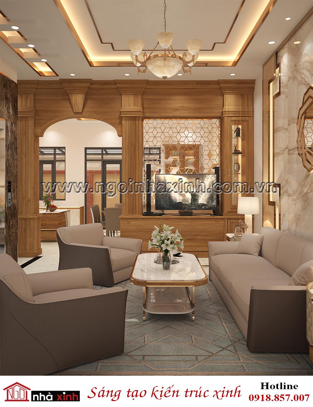 nội thất đẹp phòng khách phong cách Luxury do Nhà Xinh thiết kế