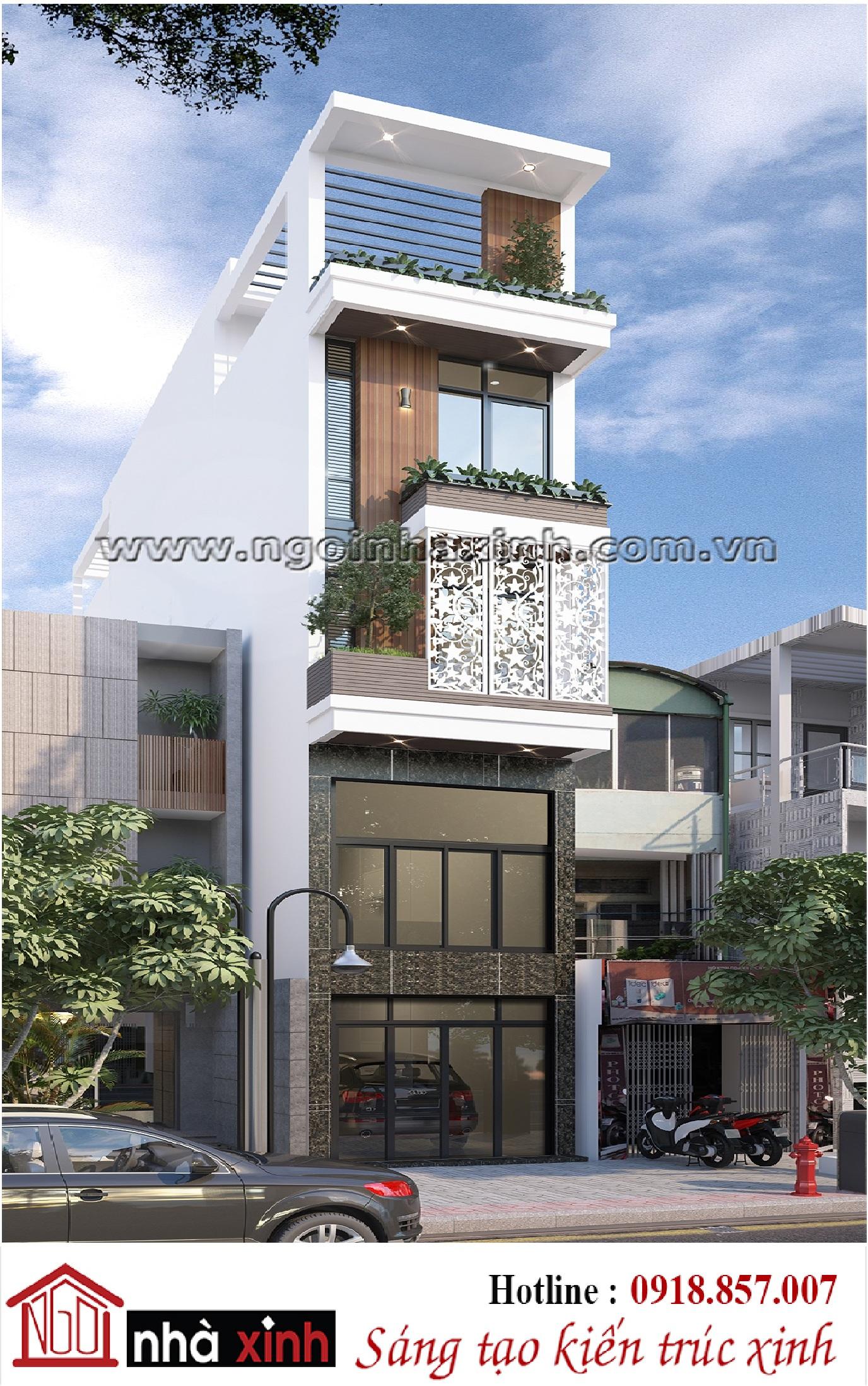 Nhà phố đẹp hiện đại Ngôi Nhà Xinh nhà chị Tâm - Hình 1