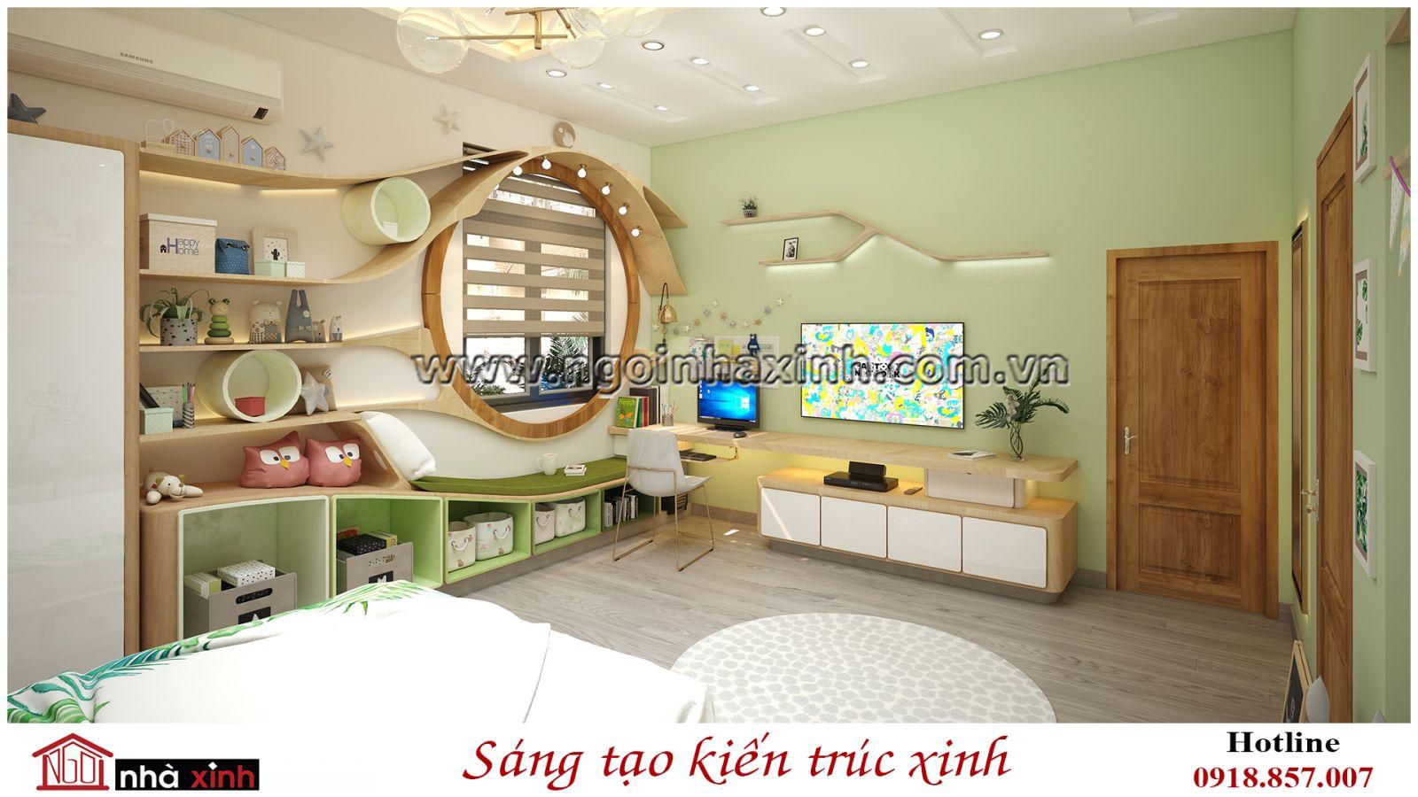 nhà xinh, thiết kế nhà xinh, phòng ngủ đẹp